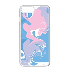 Abstract Marble 10 Apple Iphone 7 Plus White Seamless Case by tarastyle
