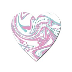 Abstract Marble 12 Heart Magnet by tarastyle