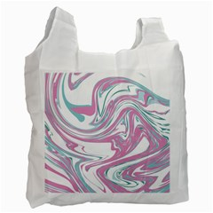Abstract Marble 12 Recycle Bag (one Side) by tarastyle