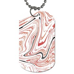 Abstract Marble 13 Dog Tag (two Sides) by tarastyle
