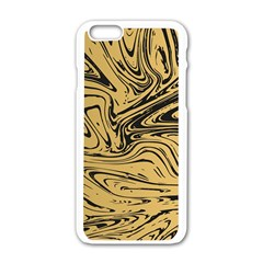 Abstract Marble 16 Apple Iphone 6/6s White Enamel Case by tarastyle