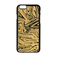 Abstract Marble 16 Apple Iphone 6/6s Black Enamel Case by tarastyle