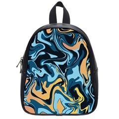 Abstract Marble 18 School Bag (small) by tarastyle