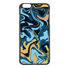 Abstract Marble 18 Apple Iphone 6 Plus/6s Plus Black Enamel Case by tarastyle
