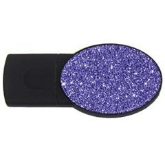 New Sparkling Glitter Print E Usb Flash Drive Oval (4 Gb) by MoreColorsinLife