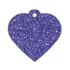 New Sparkling Glitter Print E Dog Tag Heart (one Side) by MoreColorsinLife