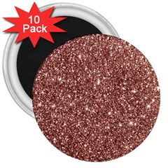 New Sparkling Glitter Print A 3  Magnets (10 Pack)  by MoreColorsinLife