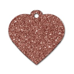 New Sparkling Glitter Print A Dog Tag Heart (one Side) by MoreColorsinLife