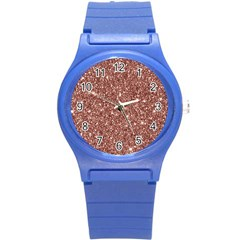 New Sparkling Glitter Print A Round Plastic Sport Watch (s) by MoreColorsinLife