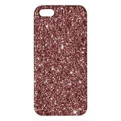New Sparkling Glitter Print A Apple Iphone 5 Premium Hardshell Case by MoreColorsinLife