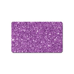 New Sparkling Glitter Print D Magnet (name Card) by MoreColorsinLife