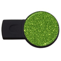 New Sparkling Glitter Print G Usb Flash Drive Round (2 Gb) by MoreColorsinLife