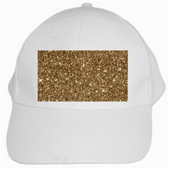 New Sparkling Glitter Print H White Cap by MoreColorsinLife