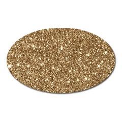 New Sparkling Glitter Print H Oval Magnet by MoreColorsinLife