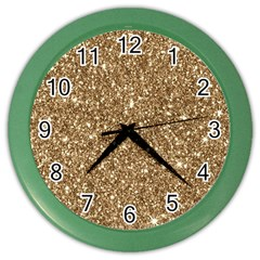 New Sparkling Glitter Print H Color Wall Clocks by MoreColorsinLife