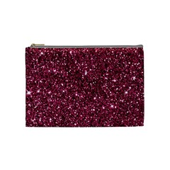 New Sparkling Glitter Print J Cosmetic Bag (medium)  by MoreColorsinLife