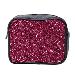 New Sparkling Glitter Print J Mini Toiletries Bag 2 Side by MoreColorsinLife