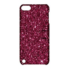 New Sparkling Glitter Print J Apple Ipod Touch 5 Hardshell Case With Stand by MoreColorsinLife