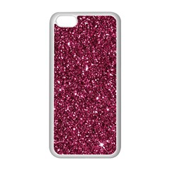 New Sparkling Glitter Print J Apple Iphone 5c Seamless Case (white) by MoreColorsinLife