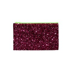 New Sparkling Glitter Print J Cosmetic Bag (xs) by MoreColorsinLife