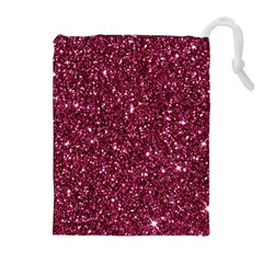 New Sparkling Glitter Print J Drawstring Pouches (extra Large) by MoreColorsinLife