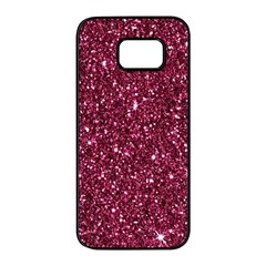 New Sparkling Glitter Print J Samsung Galaxy S7 Edge Black Seamless Case by MoreColorsinLife