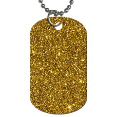 New Sparkling Glitter Print I Dog Tag (two Sides) by MoreColorsinLife