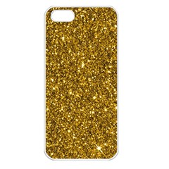 New Sparkling Glitter Print I Apple Iphone 5 Seamless Case (white) by MoreColorsinLife