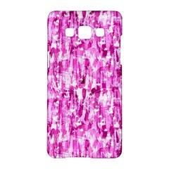 Pink Grunge Love Samsung Galaxy A5 Hardshell Case  by KirstenStar