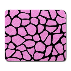 Skin1 Black Marble & Pink Colored Pencil (r) Large Mousepads by trendistuff