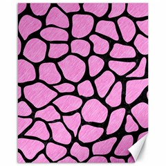 Skin1 Black Marble & Pink Colored Pencil (r) Canvas 16  X 20   by trendistuff