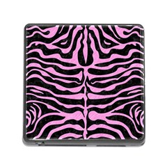 Skin2 Black Marble & Pink Colored Pencil (r) Memory Card Reader (square) by trendistuff