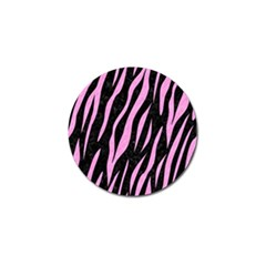 Skin3 Black Marble & Pink Colored Pencil (r) Golf Ball Marker by trendistuff
