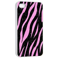 Skin3 Black Marble & Pink Colored Pencil (r) Apple Iphone 4/4s Seamless Case (white) by trendistuff
