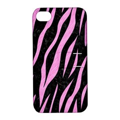 Skin3 Black Marble & Pink Colored Pencil (r) Apple Iphone 4/4s Hardshell Case With Stand by trendistuff
