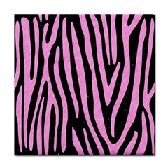 Skin4 Black Marble & Pink Colored Pencil Face Towel by trendistuff