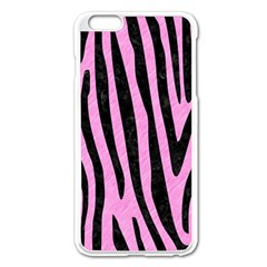 Skin4 Black Marble & Pink Colored Pencil (r) Apple Iphone 6 Plus/6s Plus Enamel White Case