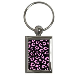 Skin5 Black Marble & Pink Colored Pencil Key Chains (rectangle)  by trendistuff