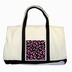 Skin5 Black Marble & Pink Colored Pencil Two Tone Tote Bag by trendistuff