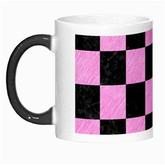 Square1 Black Marble & Pink Colored Pencil Morph Mugs by trendistuff
