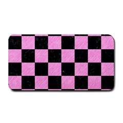 Square1 Black Marble & Pink Colored Pencil Medium Bar Mats by trendistuff