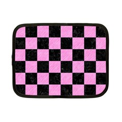 Square1 Black Marble & Pink Colored Pencil Netbook Case (small)  by trendistuff