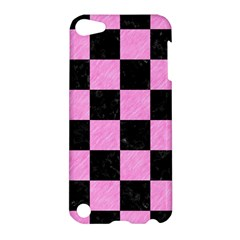 Square1 Black Marble & Pink Colored Pencil Apple Ipod Touch 5 Hardshell Case by trendistuff
