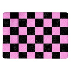 Square1 Black Marble & Pink Colored Pencil Samsung Galaxy Tab 10 1  P7500 Flip Case by trendistuff