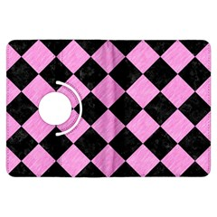 Square2 Black Marble & Pink Colored Pencil Kindle Fire Hdx Flip 360 Case by trendistuff