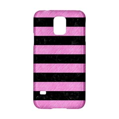 Stripes2 Black Marble & Pink Colored Pencil Samsung Galaxy S5 Hardshell Case  by trendistuff