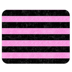 Stripes2 Black Marble & Pink Colored Pencil Double Sided Flano Blanket (medium)  by trendistuff