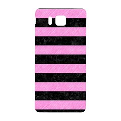 Stripes2 Black Marble & Pink Colored Pencil Samsung Galaxy Alpha Hardshell Back Case by trendistuff