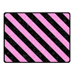 Stripes3 Black Marble & Pink Colored Pencil Fleece Blanket (small) by trendistuff