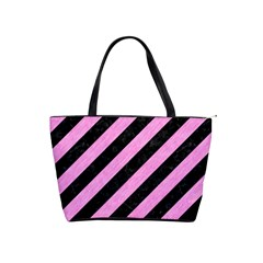 Stripes3 Black Marble & Pink Colored Pencil (r) Shoulder Handbags by trendistuff
